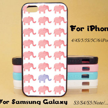 Pink Elephant,iphone 5 case,iPhone 5C Case,iPhone 5S Case,iPhone 4 Case, iPhone 4S Case,Galaxy Samsung S3, S4,S5