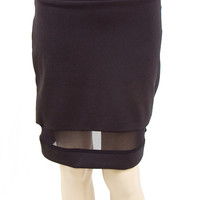 Analili Black with Sheer Cut Out SKIRT