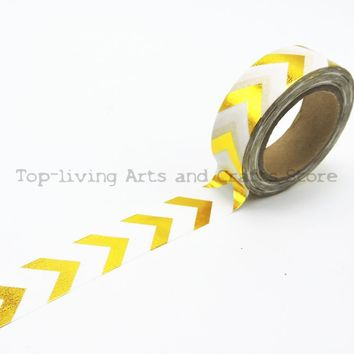 New Golden Foil Washi Tape 10M Length Kawaii Scrapbooking Tools Japanese Stationery  Adesiva Decorativa Scrapbook