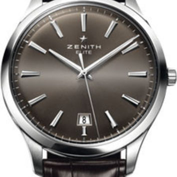 Zenith- Elite Captain Central Second Stainless Steel # 03.2020.670/22.C498