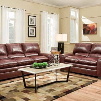 Medusa Cinnamon Sofa and Loveseat