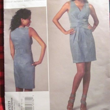 SALE Uncut Vogue Sewing Pattern, 1221! 6-8-10-12 Small/Medium/Women's/Misses DKNY American Designer, Evening Dresses/Formal/High Fashion Cou