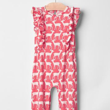 Gap Baby Ruffle Deer One Piece