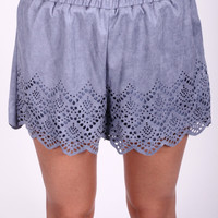 Heavenly Hues Suede Shorts