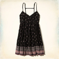 Patterned Babydoll Dress