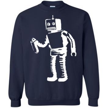 Banksy's Spray Painting Robot Graffiti Sweatshirt
