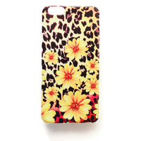 iPhone 6 Plus Case Leopard Print iPhone 6 Plus Soft Case Floral Back Cover Silicone For iPhone 6 Slim Design Case Yellow Daisy 1287