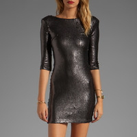 BLAQUE LABEL Scooped Back Sequined Dress in Matte Black from REVOLVEclothing.com