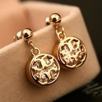 "Hot Sale ""Tory Burch"" Newest Stylish Women Chic Diamond Zircon Earrings Accessories Jewelry I13649-7"