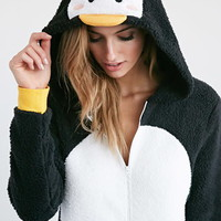 Plush Penguin Jumpsuit