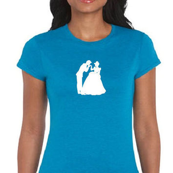 Beauty and the Beast Womens T-Shirt Her Prince His Princess Disney