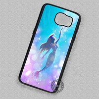 Glitter Ariel Disney Princess The Little Mermaid - Samsung Galaxy S7 S6 S5 Note 7 Cases & Covers