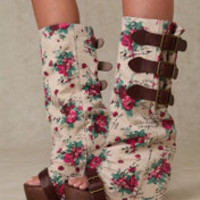 Free People Floral Slouch Clog at Free People Clothing Boutique