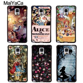 MaiYaCa Alice in Wonderland Cartoon Soft Rubber Phone Cover For Samsung Galaxy S5 S6 S7 S8 S9 edge plus Note 4 5 8 Back Case