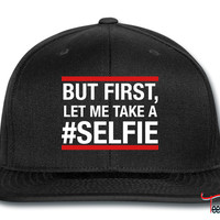 But first, let me take a selfie Snapback
