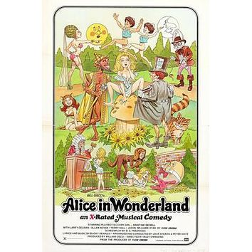 Alice In Wonderland Movie poster Metal Sign Wall Art 8in x 12in