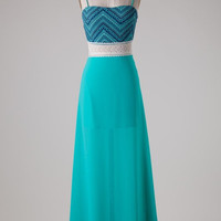Jade Chevron Maxi Dress