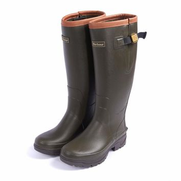 Tempest Wellington Boots in Olive by Barbour