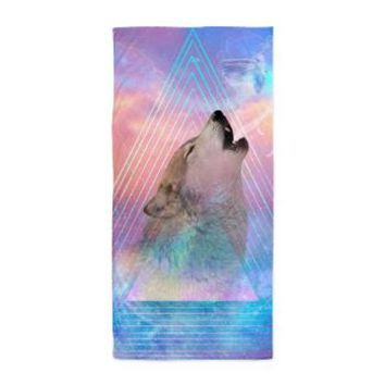 Dream By Day (wolf Howl) Beach Towel> Beach / Pool / Bath Towels> soaring anchor designs