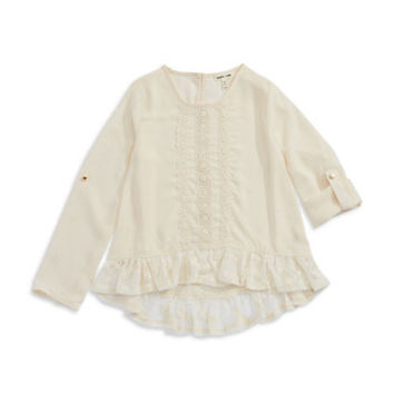 Sophia + Zeke Girls 7-16 Peplum Lace Top