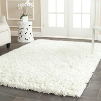 Safavieh Paris Shag Ivory 5 ft. x 8 ft. Area Rug-SG511-1212-5 - The Home Depot