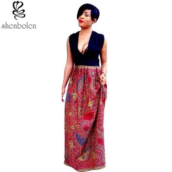 Markelle top maxi Ankara skirt