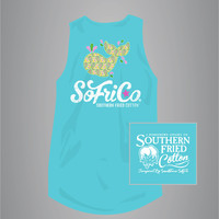 Paisley Whale - Adult Tank Top - Southern Fried Cotton