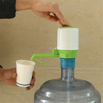 New Design 1 set Drinking Hand Press Pump for Bottled Water Dispenser Water Bottle My Bottle with Tag