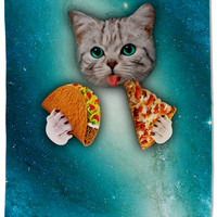 Cat Pizza Tacos Towel