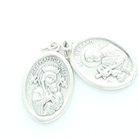 5 Piece St. Gerard / Our Lady of Perpetual Help Oxidized Medals.