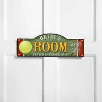 Personalized Kids Room Sign - Tennis