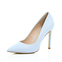 River Island Womens Blue leather pumps