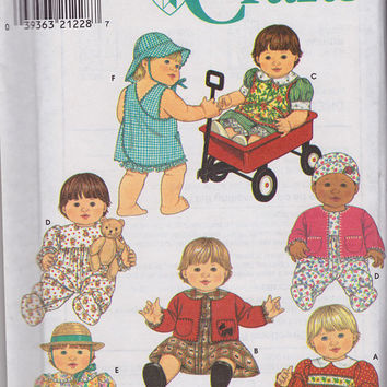Pattern Wardrobe for Baby Dolls, Simplicity Crafts 7992