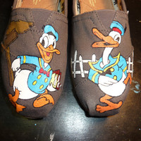 Custom Hand Painted Shoes - Donald Duck
