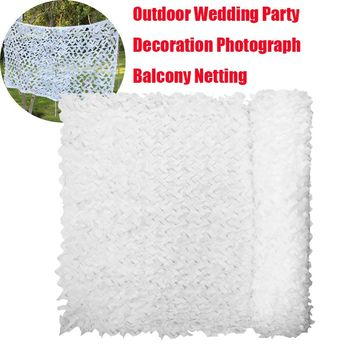 1.5X4 2X3 3X4 4X4M Snow White Military Outdoor Camping Hunting Sniper Mesh Netting Wedding Party Decoration Balcony Shelter Net