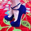 Brian Atwood FOLLOW ME Purple Suede Ankle Strap Platform Spike Heel Shoes $850