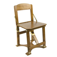 Spiderlegs CCHAIR-WO Hand Crafted Custom Finished Folding Chair in Warm Oak