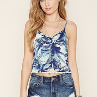 Palm Tree Print Cropped Cami