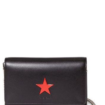 Givenchy 'Pandora' Star Patch Leather Wallet on a Chain | Nordstrom