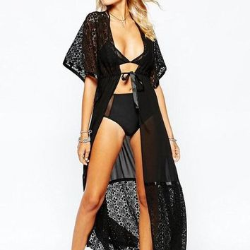 Cover ups Bikini Women Bathing Suit  Woemen Swimwear Crochet Tunic Saida De Praia Feminino 2017 Long Beach Poncho White Robe Plage KO_13_1
