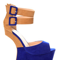 Heel Less Double Strap Wedge