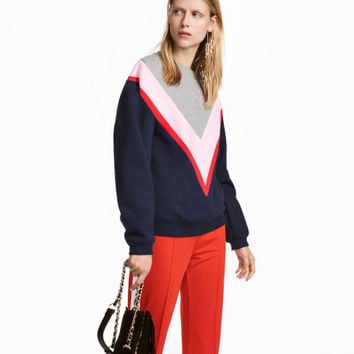 Color-block Sweatshirt - from H&M