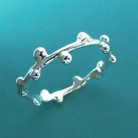 Delicate Twig Stacking Ring Sterling Silver by esdesigns on Etsy