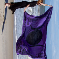 Triple Moon Tapestry - Purple