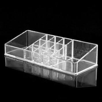 Clear Acrylic Cosmetic Organiser Lipstick Brush Holder Makeup Storage Case