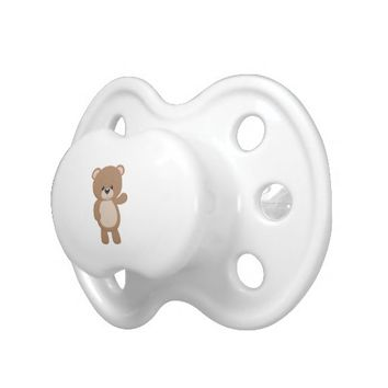Cute Cartoon Brown Bear Pacifier