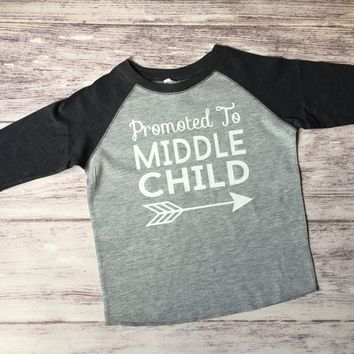 Middle Child Shirt, Promoted to Middle Child, Pregnancy Announcement Shirt, Sibling Shirt