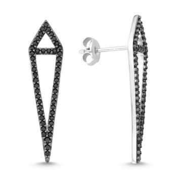 Amorium Black Sterling Silver Aria Earring