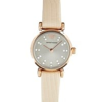 Emporio Armani Retro Watch - Cream