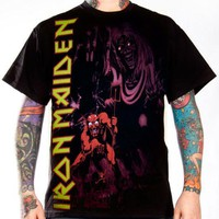 Iron Maiden T-Shirt - Number Of The Beast  Monochrome